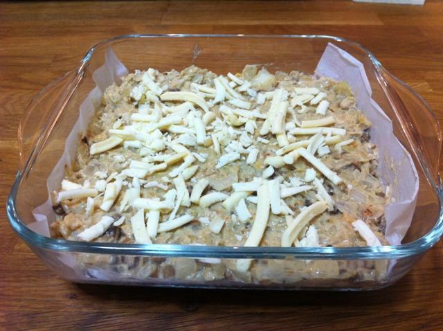 לפני. עם גבינת טבט טוסט טבעונית מפנקת